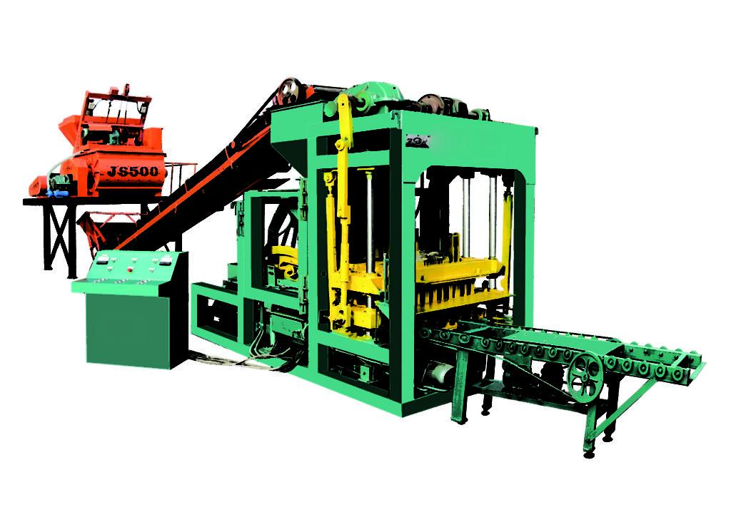 QTJ4-25 hollow block brick making machine